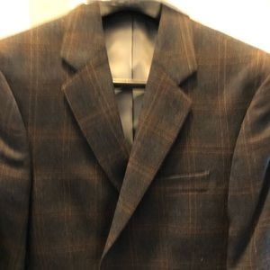 Other - 42L Brown Jacket with Hint of Yelllow